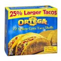 Ortega Taco Shells Hard 12CT 5.8oz PKG