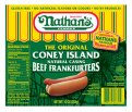 Nathan's Original Beef Franks Natural Casing 5CT 10oz PKG