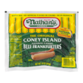 Nathan's Original Beef Franks Natural Casing 5CT Hot Dogs 10oz PKG
