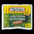Nathan's Original Beef Franks Natural Casing 5CT Hot Dogs 10oz PKG