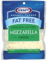 Kraft Fat Free Shredded Mozzarella Cheese 7oz PKG