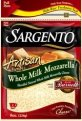 Sargento Whole Milk Shredded Mozzarella Cheese 8oz Bag