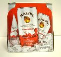Malibu Cocktail Can Rum & Cranberry 4PK 6.8oz Cans *ID Required*