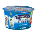 Stonyfield Organic Greek 0% Fat Yogurt Strawberry  5.3oz Cups