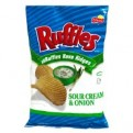 Ruffles Potato Chips Sour Cream & Onion 8.5oz Bag