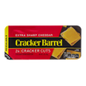 Cracker Barrel Cracker Cuts Extra Sharp Cheddar  24 Cracker Cuts 7oz PKG