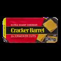 Cracker Barrel Cracker Cuts Extra Sharp Cheddar  24 Cracker Cuts 7oz PKG