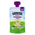 Stonyfield Organic Whole Milk Yogurt Vanilla 3.7oz Pouch