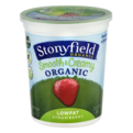 Stonyfield Farm Low Fat Strawberry Yogurt 32oz Tub