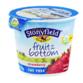 Stonyfield Organic Fruit on the Bottom Fat Free Nonfat Yogurt Strawberry 6oz Cup