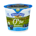 Stonyfield Organic 0% Fat Blueberry Fruit On The Bottom Nonfat Yogurt 6oz