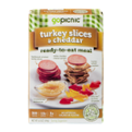 GoPicnic Turkey Slices & Cheddar Ready-To-Eat Meal 6oz Box