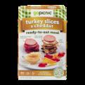GoPicnic Turkey Slices & Cheddar Ready-To-Eat Meal 6oz Box