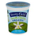Stonyfield Organic Smooth & Creamy Fat Free Yogurt French Vanilla 32oz