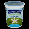 Stonyfield Organic Smooth & Creamy Fat Free Yogurt French Vanilla 32oz
