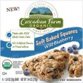 Cascadian Farm Organic Soft Baked Squares Wild Blueberry 6CT 7.44oz Box