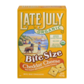 Late July Organic Bite Size Cheddar Cheese Crackers 5oz Box