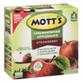 Mott's Snack & Go Strawberry Unsweetened Applesauce 4Count 12.7oz