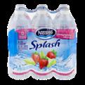 Nestle Pure Life Splash Water Strawberry Melon 6PK of 16.9oz Bottles