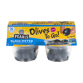 Pearls Olives To Go! Black Pitted Large California Ripe Olives 4PK 4.8oz