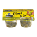Pearls Olives To Go! Pimiento Stuffed Spanish Green Olives 4CT 6.4oz