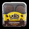 Udi's Gluten Free Muffins Double Chocolate 4PK 12oz