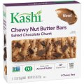 Kashi Chewy Nut Butter Bars Salted Chocolate Chunk 5 Bar Box 6.15oz