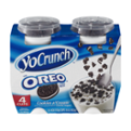 YoCrunch Low Fat Cookies n' Cream Yogurt with Oreo Toppings 4Pack of 4oz Cups