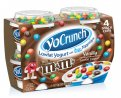 YoCrunch Lowfat Vanilla Yogurt with M&Ms Toppings 4Pack of 4oz Cups