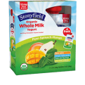 Stonyfield Whole Milk Pear-Spinach-Mango Yogurt 4PK 3.5oz Pouches