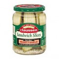 Claussen Sandwich Slices Pickles Hearty Garlic 20oz Jar