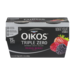 Dannon OIkos Triple Zero Blended Greek Yogurt Mixed Berry 4PK 5.3oz EA