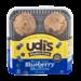 Udi's Gluten Free Muffins Blueberry 4PK 12oz (Frozen)